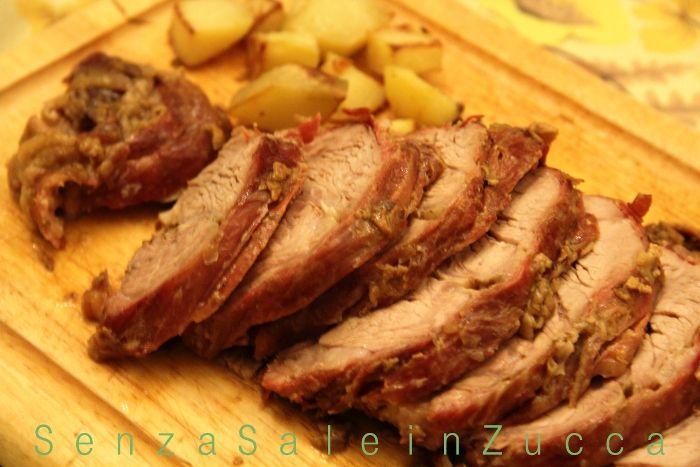 Senza Sale in Zucca: Arrosto di vitello al marsala e funghi porcini