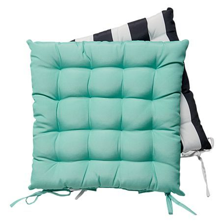 Living & Co Outdoor Chair Pad Design 4 2 Pack 43cm x 43cm
