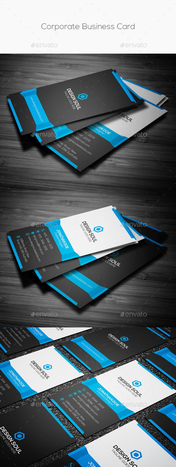 34 best business cards images on pinterest business card design clean vertical corporate business card corporate business cards reheart Gallery