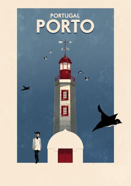 'Porto, lighthouse - Portugal' by Rui Ricardo on artflakes.com as poster or art print $27.72
