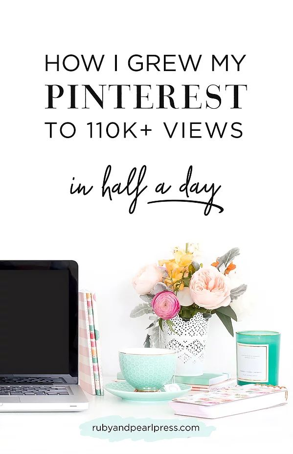 Have no idea where to start with marketing your business on Pinterest? Read my simple steps on how I started to promote my Etsy shop and blog... and now have over 110k monthly views on Pinterest. I'm a totally normal creative business, I had no idea what I was doing, and I hope these steps help someone else who is as confused as I was!