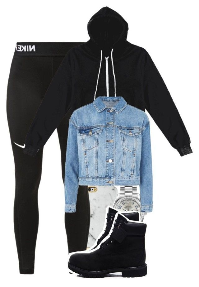 """""""Untitled #5204"""" by dianna-argons-lover ❤ liked on Polyvore featuring Richmond & Finch, NIKE, Rolex, Timberland and Topshop"""