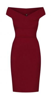 Pouzdrové šaty Claire, vínové