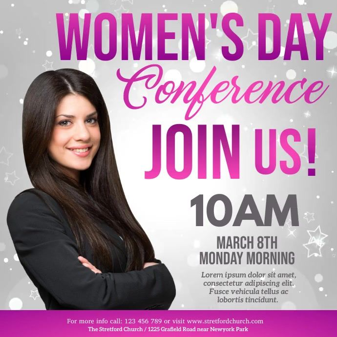 Women S Day Flyer International Women S Day In 2021 Ladies Day Flyer Event Flyer Templates