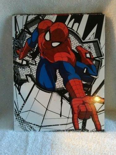 Marvel Spiderman 3-Ring Portfolio Folders Brand New Lot of 3 School Supplies