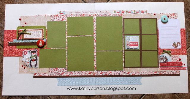 CTMH Holiday layout using White Pines Kit & Complements.