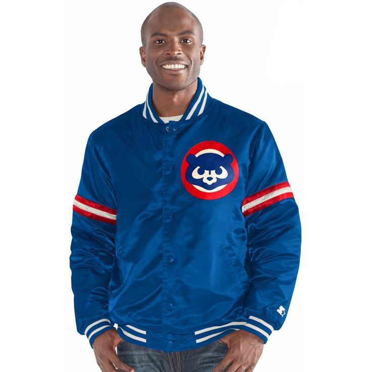 Chicago Cubs Full Snap Cooperstown Jacket  #ChicagoCubs #Cubs #mlb  #flythew