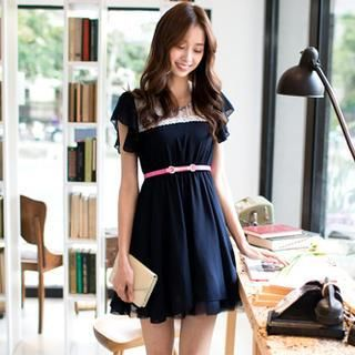 Buy 'OrangeBear – Ruffle-Sleeve Lace-Panel A-Line Dress' with Free Shipping at YesStyle.com.au. Browse and shop for thousands of Asian fashion items from Taiwan and more!