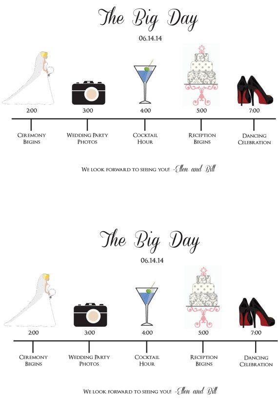 Best  Wedding Schedule Ideas On   Wedding Day
