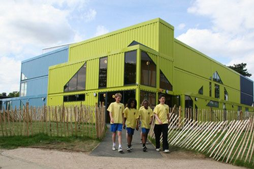 Gym made out of shipping containers modern home