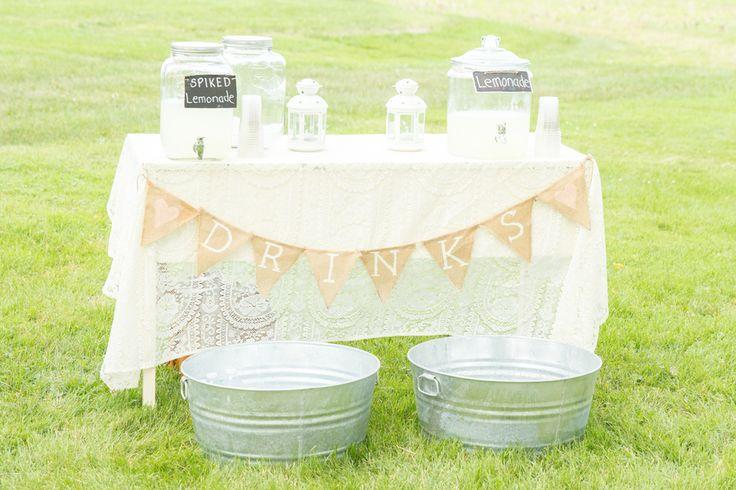 rustic wedding cocktails | Sources – photography: Martina Wendland Photography / venue ...