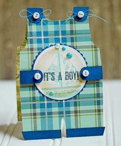 It's A Boy card designed by  Michele Kovack