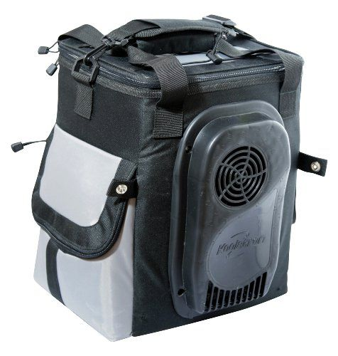 This 14 Quart Soft Sided Electric Travel Cooler Feature A