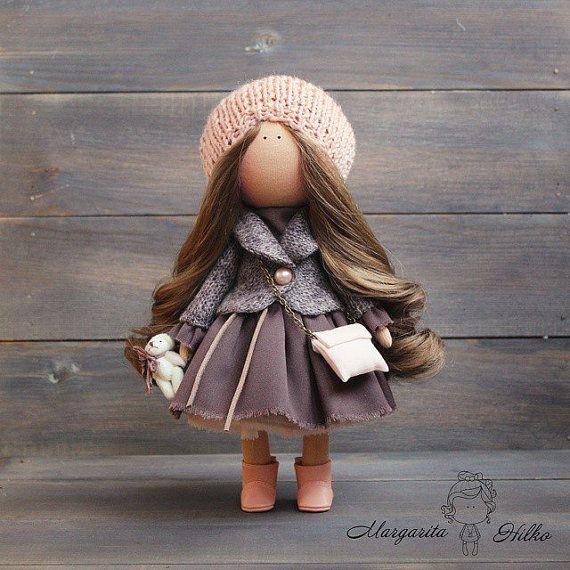 Art doll Handmade doll Brown doll Collectable por AnnKirillartPlace