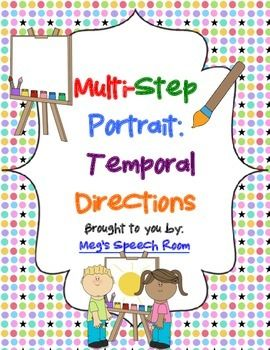 FREE: This activity targets following multi-step directions to create a portrait. Great way to work on receptive language and engage students!