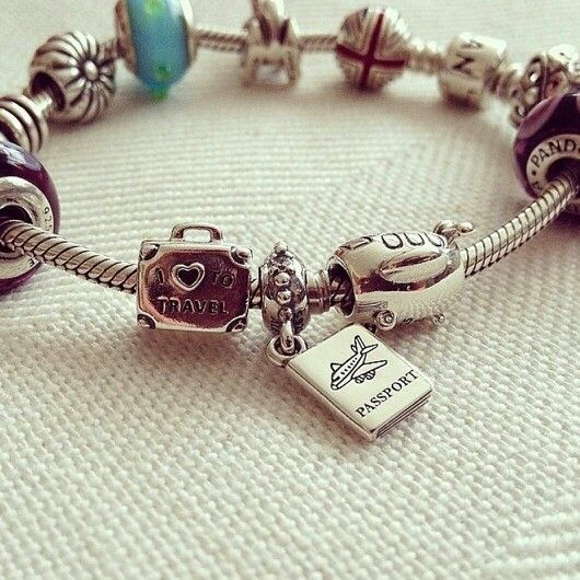 """Create a """"Travel"""" Pandora charm bracelet to keep all of your unforgettable moments from Summer 2014 close by! @officialpandora  www.ackermanjewelers.com"""
