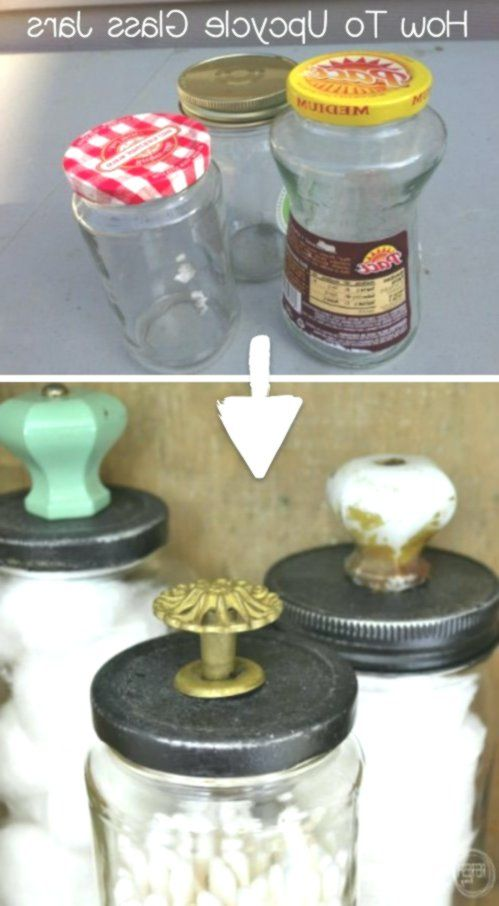 Save your food jars! I love this recycling craft.  #handmade #craft #crafts to s…  – Love Handmade