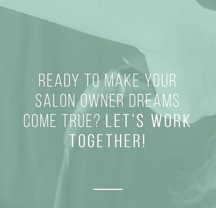 Tools to help you have a successful business that you love. www.salonownersolutions.com   @Salon Owner Solutions. Get Salon coaching and tools with our Salon Owner Strategist.
