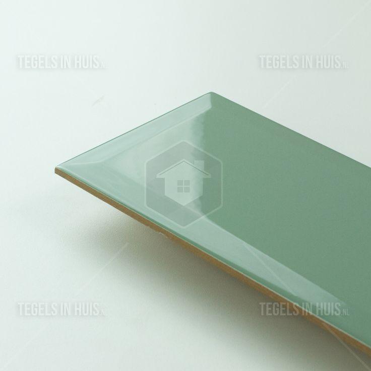 Metro tegels 10x20 oud grijs groen glans bestel je eenvoudig bij Tegels in Huis