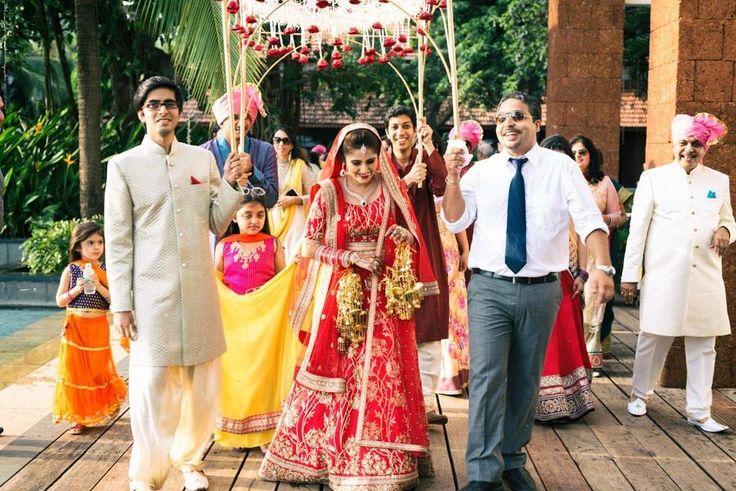 Bright bride in red! Photo by Anagha Mayekar, Goa #weddingnet #wedding #india #indian #indianwedding #weddingdresses #mehendi #ceremony #realwedding #lehenga #lehengacholi #choli #lehengawedding #lehengasaree #saree #bridalsaree #weddingsaree #indianrituals #indianweddingrituals #ceremonies #weddingceremonies