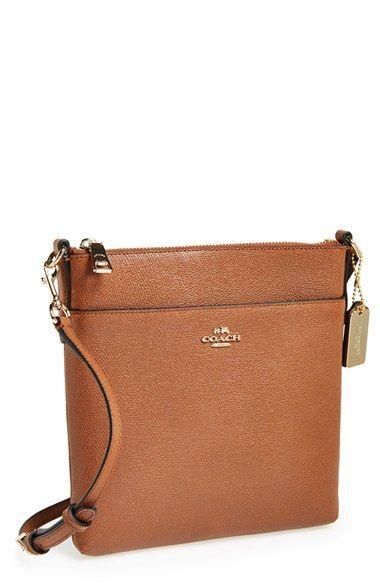 coach leather handbags outlet omv4  COACH Leather Crossbody Bag