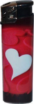 RZOnlinehandel - LUX Elektronik Feuerzeug Nachfüllbar Love Motiv - Herz