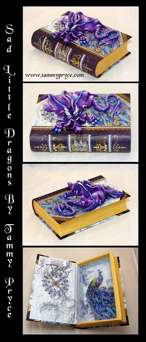 Sad Little Dragons By: Tammy Pryce on Etsy $45 #dragon #polymerclay #homedecor