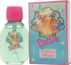 Barbie Sirena By Mattel For Women, Eau De Toilette Spray, 2.5-Ounce Bottle by Mattel. $76.02. Product DescriptionBARBIE SIRENA by Mattel Eau De Toilette Spray 2.5 oz for Women Barbie Sirena by Mattel was introduced in 1997 as a fresh fun fragrance for any girl. Refreshing and crisp, even women can wear it.