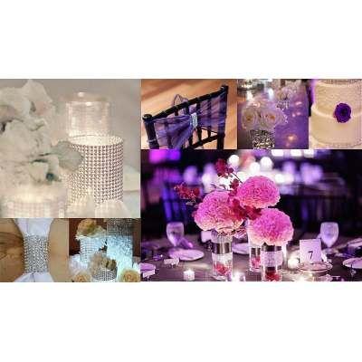 Cinta Liston Diamante Brillante Plateada Dorado Decoracion - $ 489.00 en MercadoLibre