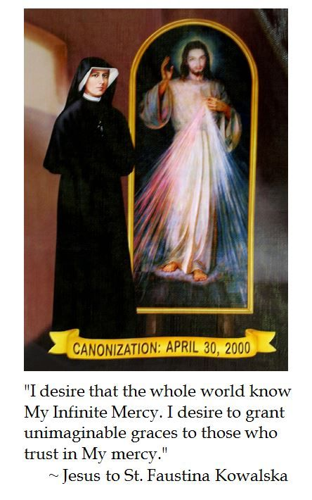 St. Faustina's Diary on Divine Mercy