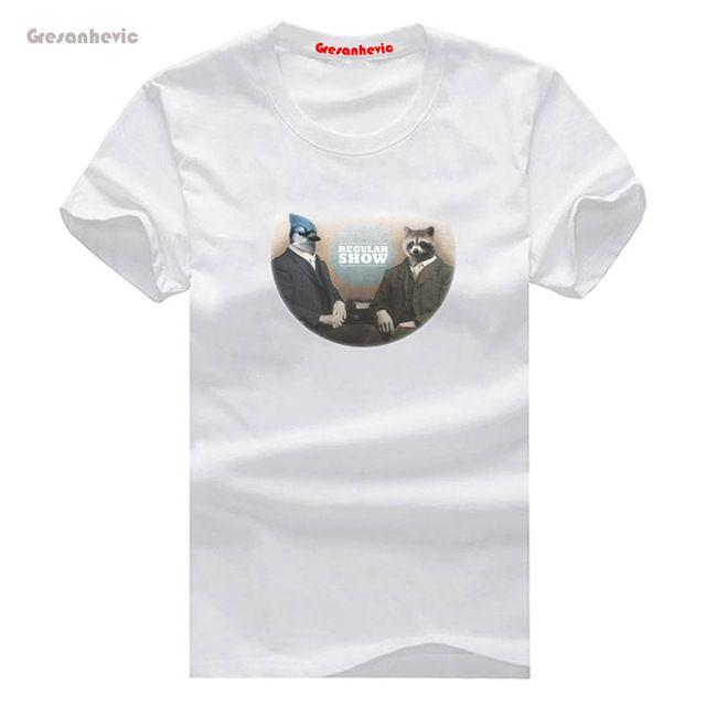 Mordecai & Rigby Nieuwe Mode Man T-Shirt Katoen O Hals Heren Korte Mouw Heren tshirt Mannelijke Tops Tees Groothandel