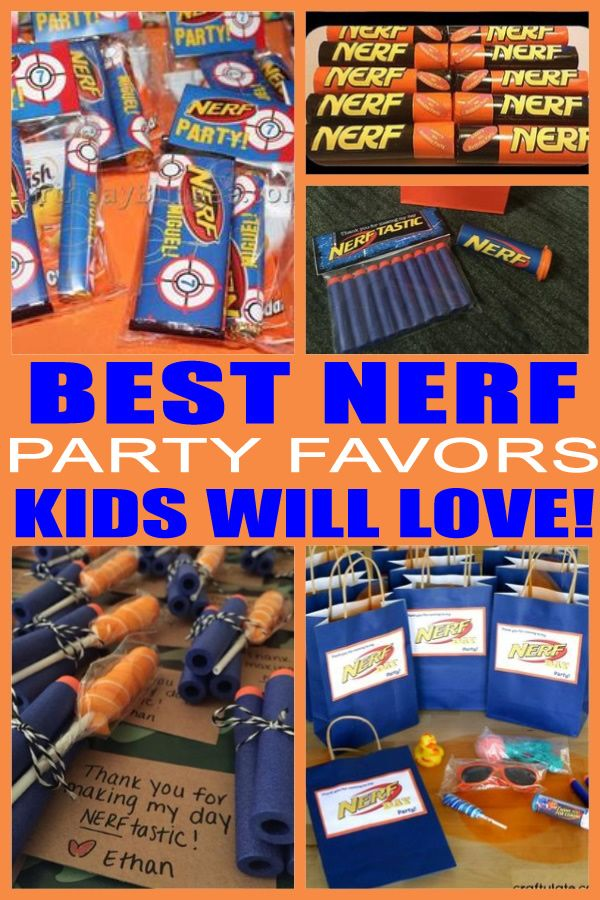 Kids Party Favors! The best Nerf party favor ideas that kids will love! Cool Nerf gun birthday party favors that all children will love. From goodie bags to mini guns to candy to toys and more both boys and girls will love to take home any of these favors from the bday party. Find the coolest Nerf party favor bag fillers now!