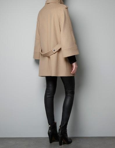 CAPE ZIP COAT - Coats - Woman - ZARA