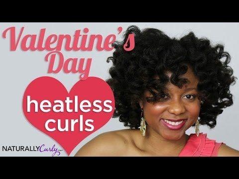 Heatless Curls Valentine's Day - YouTube