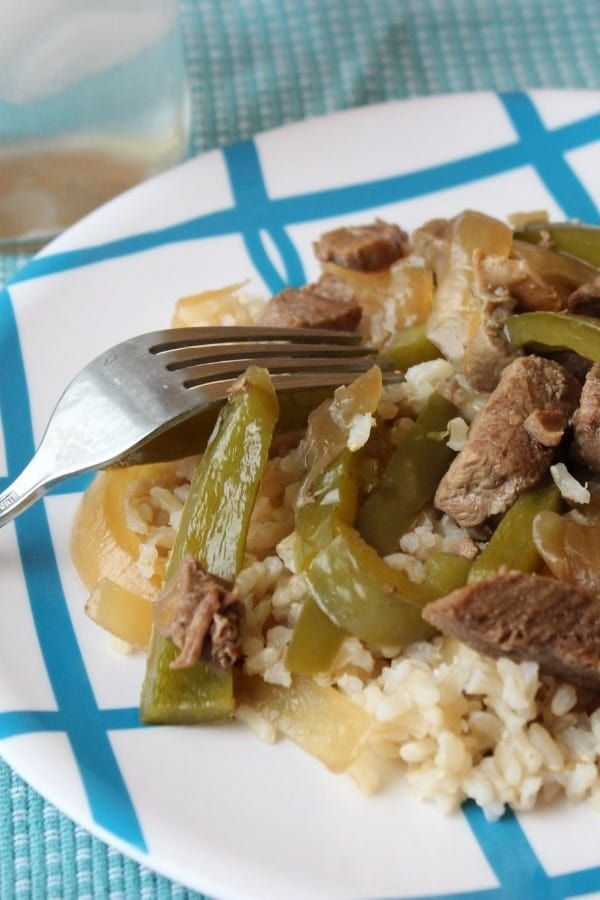 Slow cooker pepper steak that is melt in your mouth ...
