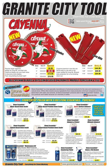 June sales flyer! Showcasing our new Cayenna Tools and Stone Essentials line!