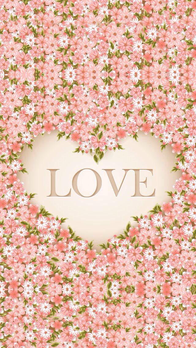 wallpaper LOVE :3 florecitas súper fondo lindo