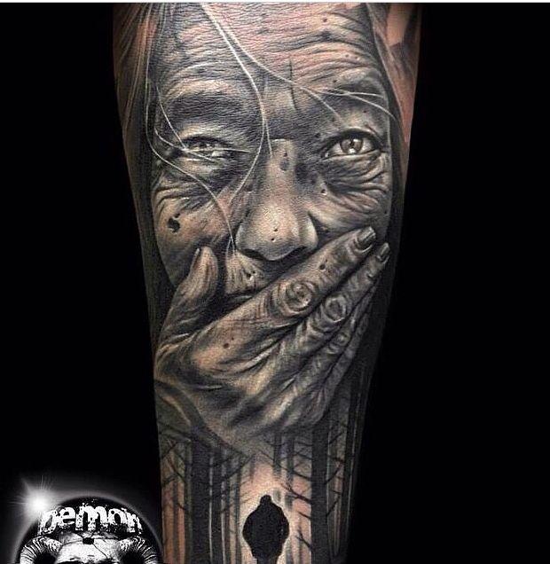 Old lady tattoo