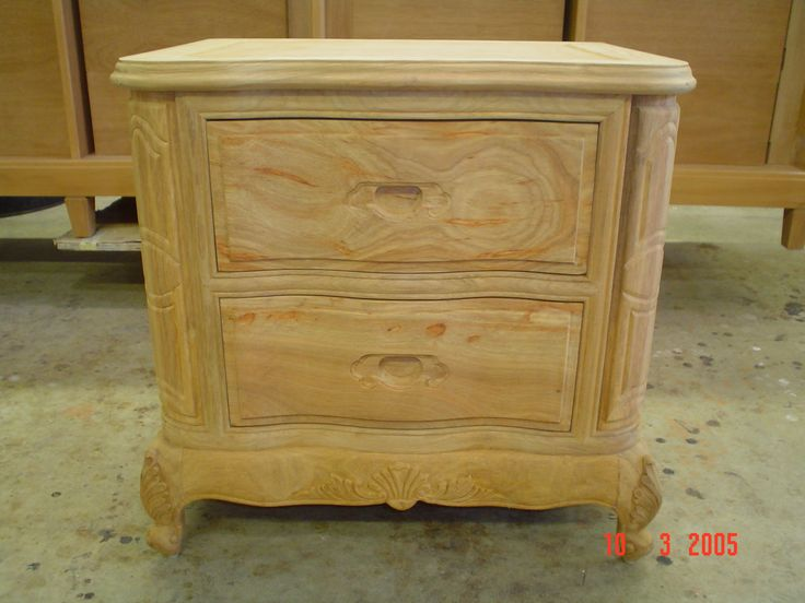 Unfinished night table. To be finished by AM Furniture Finishing.