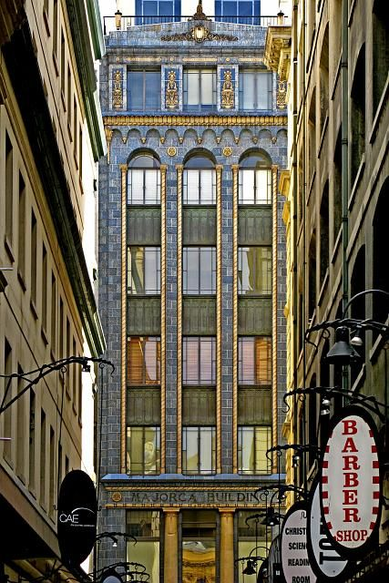 Majorca Building built 1928 – 1929. 258-260 Flinders Lane, corner Degraves Street. Built by Harry Norris, featured in fiction by author Kerry Greenwood.