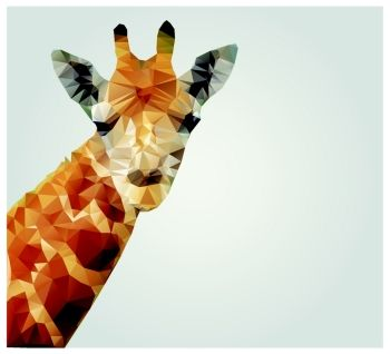 Geometric polygonal giraffe triangle pattern design vector illustration