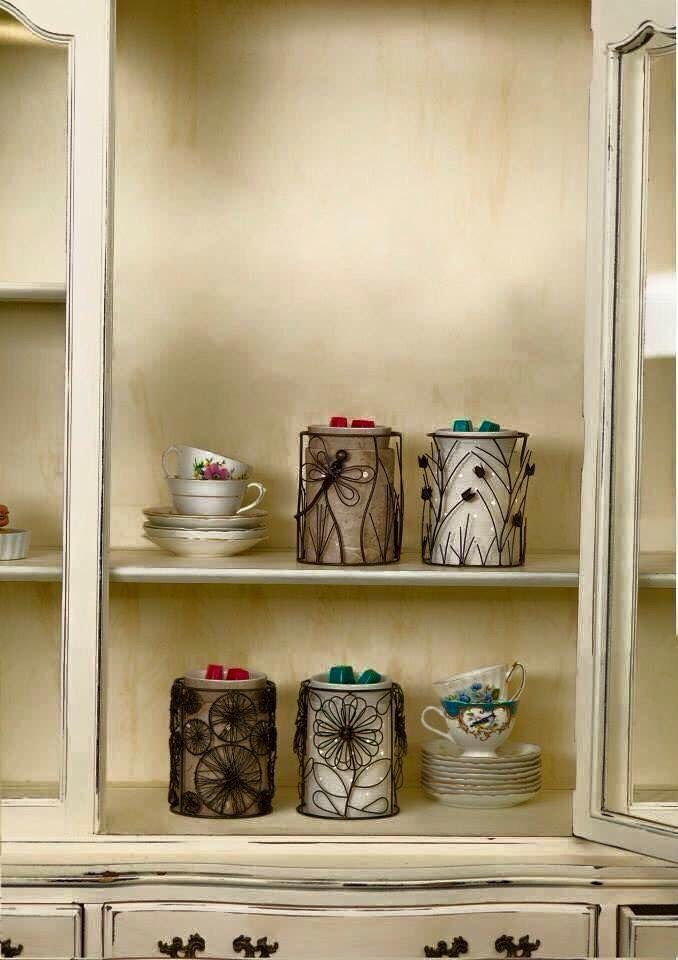Beautiful 'Etched Core' warmer with the choice of different wraps such as butterflies or dragonflies.   Emily's wick free home scents   emilyberry.scentsy.co.uk