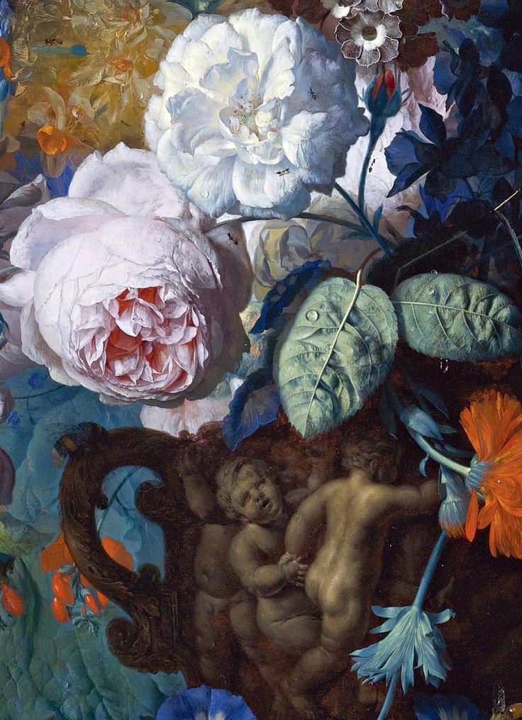 Still life,detail,Jan van Huysum (1682-1749):