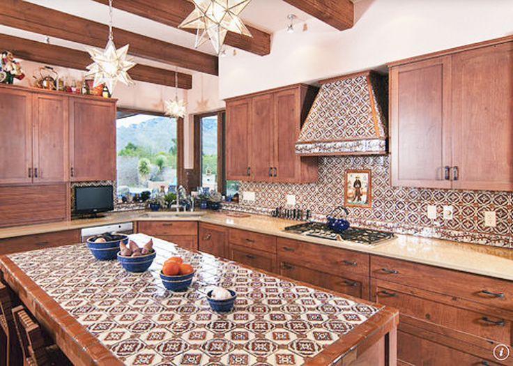 Barras De Cocina Con Azulejo Cocinas Azulejos Cocina De