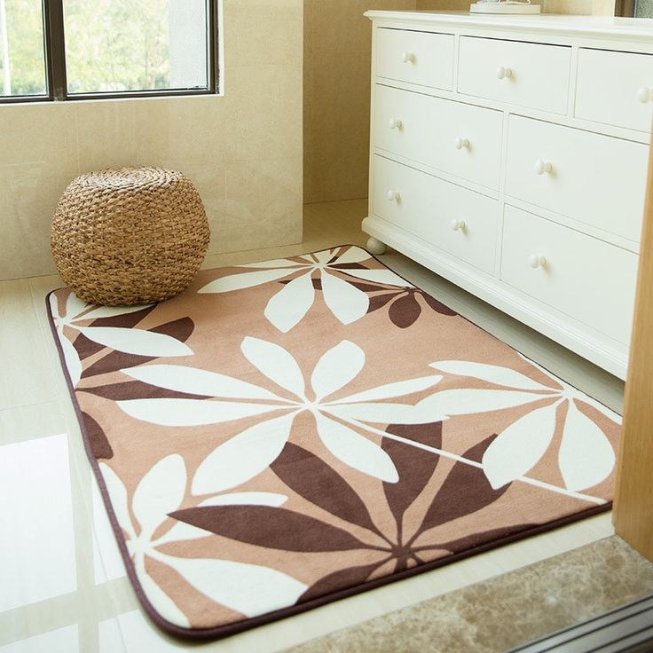 Leaves Rugs And Carpets For Living Room Soft Coral Velvet Bedroom Area Rugs  For Home Coffee Part 52