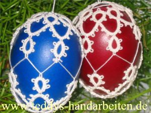 PATTERN: Occhi-Osterei (tatted Easter eggs)