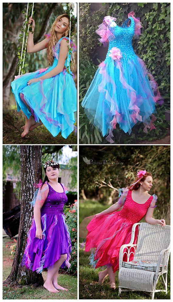 New Carnival  Adult Fairy Dress~ PLUS SIZE ~Halloween Costume ~Mardi Gras~Theatre~Fantasy~