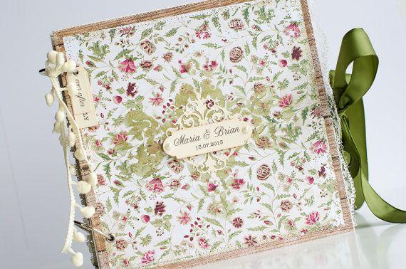 Custom Made Wedding Photo Album Anniversary Gift by VioletCloudlet