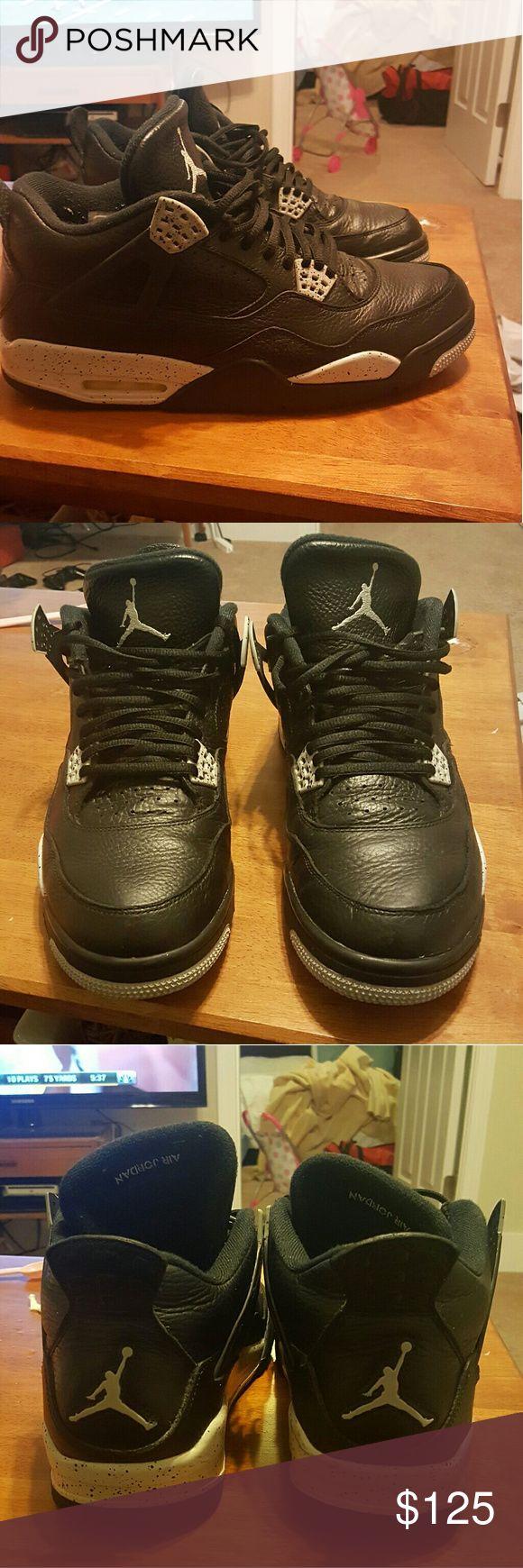 Jordan Retro 4 Oreo Size 12 8.5/10 condition.  Great Condition Jordan Shoes Athletic Shoes