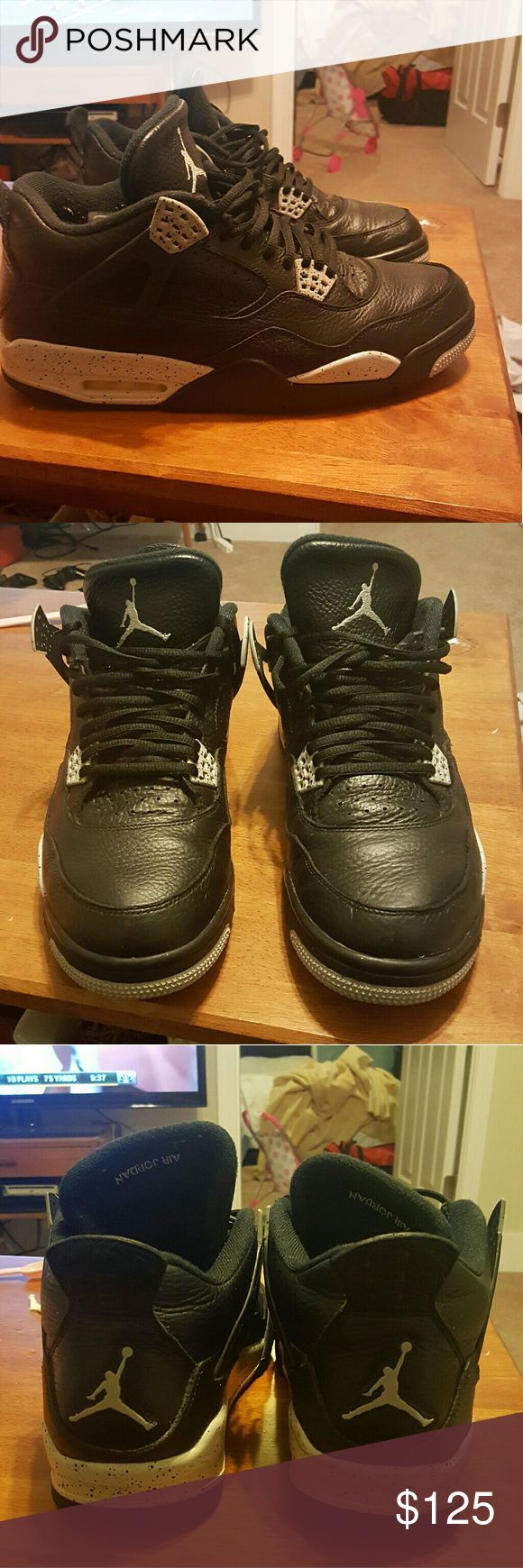 Jordan Retro 4 Oreo Size 12 8.5/10 condition.  Great Condition Jordan Shoes Athletic Shoes